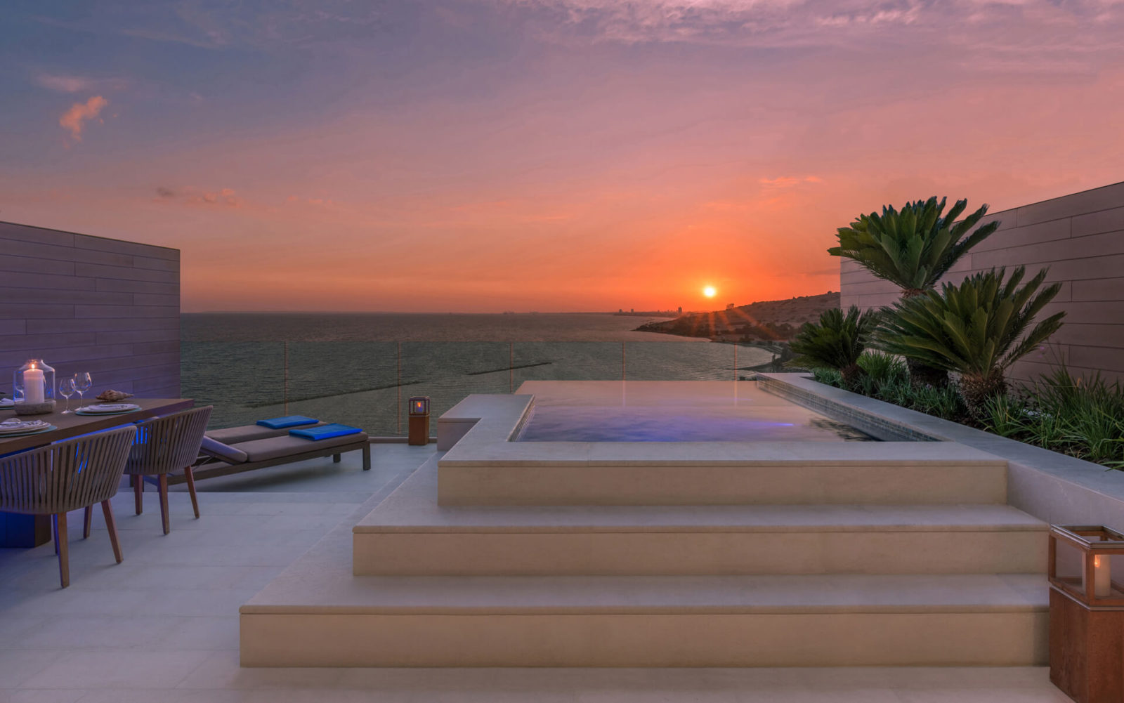 amara suite terrace sunset